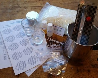 Soy Candle Making Kit - 2lb - Container Kit, wax, wicks, thermometer, fragrance