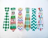 Ugly Christmas Sweater - Pick a Fabric - Christmas Tie Applique Shirt Long Sleeve T Shirt Kids or Mens - S M L XL 2XL long tie boys