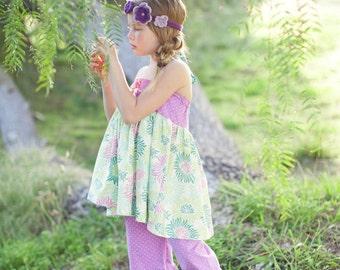baby ellie halter top- halter top- spring top-girls spring outfit- matilda jane clothing- toddler top- tank top- easter clothing-