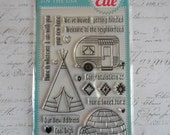 Avery Elle Clear Photopolymer Rubber Stamp Set - Home Sweet Home