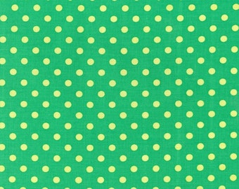 15% Off SALE - Michael Miller FABRIC - Dumb Dot - Sprout