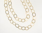 Gold Chain, Layering, Wrap Around Chain - 8.8x6.6mm Gold Filled Oval Links - Custom Lengths Available