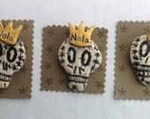 Ceramic Skeleton Pins
