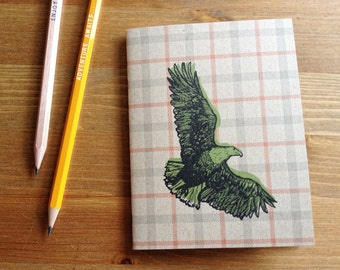 Eagle Pocket Notebook, Sketchbook, Personalized journal, fathers day gift, graduation gift, animal lover, gift for mom, grandpa, nature