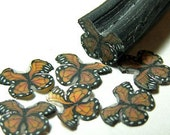 Monarch butterfly, fimo nail art cane, 2-inch (5cm) long polymer clay cane, DIY, Miniatures, Scrapbooking, Made in USA