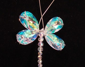 Crystal Dragonfly Sun Catcher.  Free shipping in the U.S.