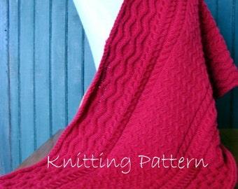 Knitting Pattern Cabled Prayer Shawl