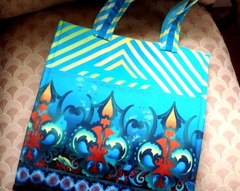 Market Tote Grocery bag in Teal