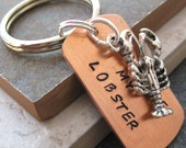 You're My Lobster Keychain with lobster charm, great gift for your significant other