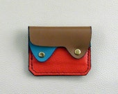 Leather  Wallet, Coin Purse, Card Case, Small Leather Wallet, Bright Colors Wallet