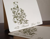 Filigree Thank You Cards, Screen Printed 6-Pack Greeting Cards
