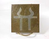 HESTIA ALTAR TILE - Vesta 4x4 Art Tile - Carved Slate Stone - Pagan Altar Stone, Wiccan Altar, Pagan Art Tile, Witchy Decor, Goddess Hearth