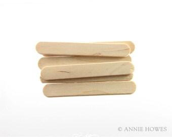 """150 Pack Wood Craft Stir Sticks. 2.5"""""""