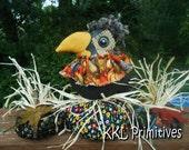 Whimsical Folk Art Freya Crow's Pumpkin Patch