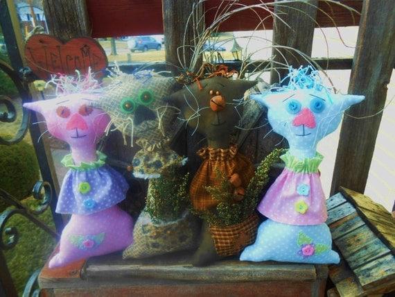 ePattern - Whimsical Primitive Kitties FAAP OFG