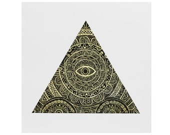 Triangle Eye Poster