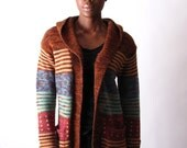 ViNtAgE 70's Hooded Cardigan Wrap Sweater