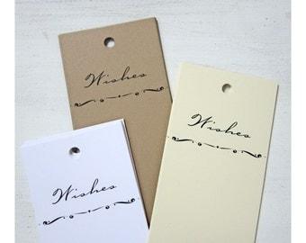 50 Wedding Wish Tree Tags, Wedding Wish Tags, Wishing Tags, Advice Tags, Bridal Shower Wish Tags, Baby Shower Advice Tags, W001