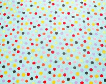 Polka Dot Blue Cotton Moda Fabric 1/2 yard units -  Sewing Quilting - Light Blue Background Circles