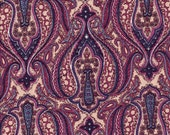 Older fabric, Colonial Shades by Jinny Beyer for RJR Fabrics, Paisley Reproduction, BTY