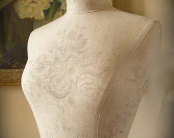 Mannequin Display Wedding Dress Kate Forman English Linen Dressform Bust - Sophia in Grey