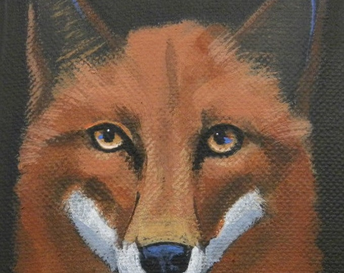 Handsome Fox blank greeting card