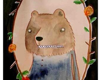 Bear Portrait - PRINT - Various Sizes