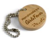 20mm Custom engraved wood hang tags Personalised WEDDING labels 100 pcs