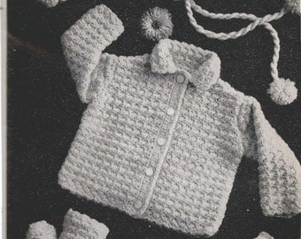 Baby Set with Booties and Mittens (starbby)