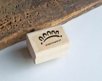 Rubber Stamp, Stampin Up Stamp, Sun Stamp, Edge Stamp, Small Stamp, Wood Mounted Stamp, Etsy, Etsy Jewelry, Etsy Supplies