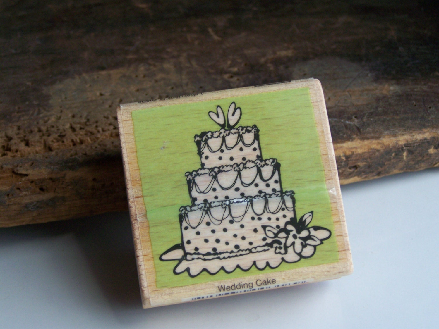 Rubber Stamp Wedding Cake Wedding Cake Stamp By Alysbeads On Etsy