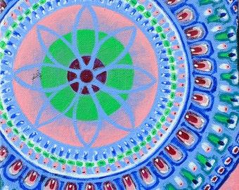 SALE Original Mandala Visionary Spiritual Art Painting: Visions of Marrakesh I