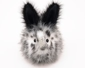 Stuffed Animal Stuffed Bunny Cute Plush Toy Bunny Kawaii Plushie Leopold the Black and White Spotted Bunny Rabbit Toy Large 6x10 Inches
