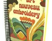 Hardcover Book Journal/Sketchbook/Notebook: Art Nouveau Embroidery