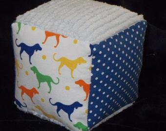 Labrador Retriever Fabric Block Rattle