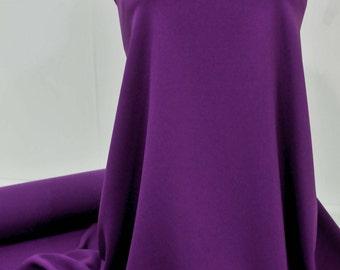 "Stretch Crepe Jersey Purple  1 yard 58"" wide dresses, suits, pants jackets"