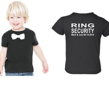 Personalized Ring security shirt Ring Bearer shirt tshirt bowtie tee wedding attire
