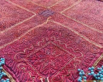 Afghanistan: Vintage Embroidered Zazi Doily, Item E77
