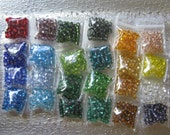 Seed Bead 6/0 Silver Lined 24 Color assortment pkg  1200 Beads  AB24