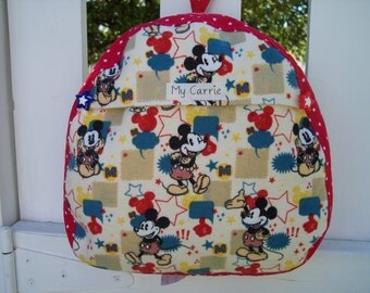 My Carrie Baby/Toddler Backpack made with Micky Mouseet Fabric