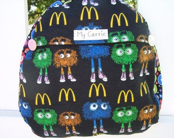 My Carrie Baby/Toddler Backpack made with McDonald's Fry Guys Fabric