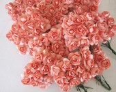Coral Paper Flowers - 120 pcs - Small Bouquet - weddings - favors - invitations - paper goods