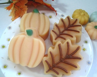 Autumn, Halloween and Thanksgiving. Fall Leaf and Pumpkin. Set of 2. Fragrance of Autumn Magic.