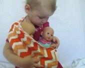 Chevron Doll Sling - Children's Toy Pouch - Fun Zig Zag