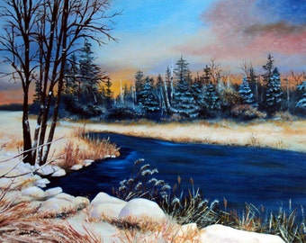 First Snow Original 18x24 oil painting