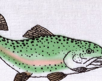 Rainbow Trout Hand Embroidery Pattern