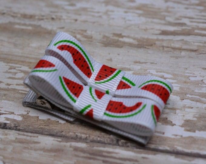 Watermelon Hair Clips Basic Tuxedo Clips Alligator Non Slip Barrettes for Babies Toddler Girl Set of 2