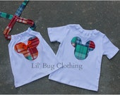 Custom Boutique Minnie And Mickey Mouse Clothing Boys Summer Plaid Tee And Girls  Halter Brother Sister Tops