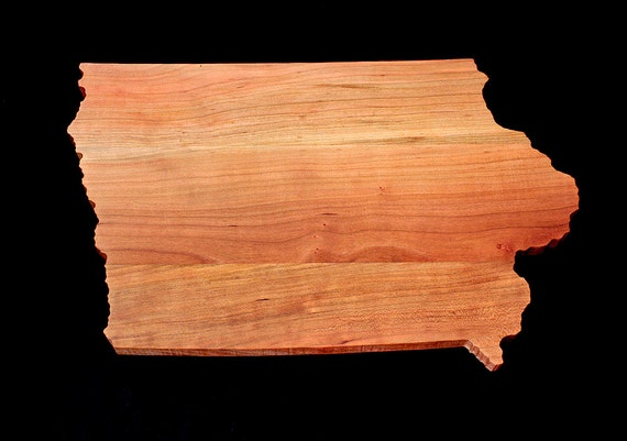 Personalized Cutting Board Engraved Iowa State Shaped Cutting Board Christmas Gift Kitchen Foodie Cutting Board Customized