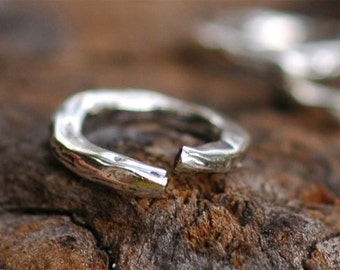 TWO Open Small Links in Sterling Silver, L-248A/2